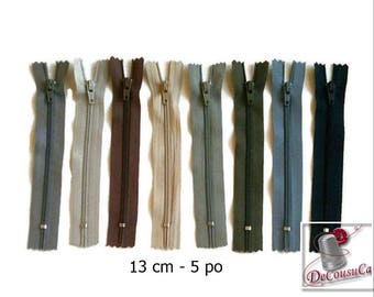 50%, (1.10 reg), 13cm, zipper, #3, 5 inchs, varied color, varied size, nylon, perfect for wallets, clothing, repair, creation,