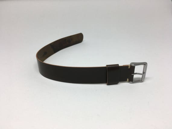 18mm Brown Horween Shell Cordovan 1 piece strap