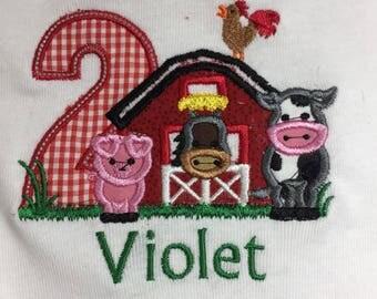 Farm Themed Birthday Shirt