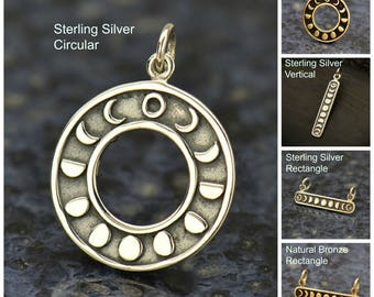 Silver Moon Charm, Astrological Charm, Moon Phase Pendant, Moon Jewelry, Silver Moon Pendant, Celestial Jewelry, Moon Pendant, Silver Charm