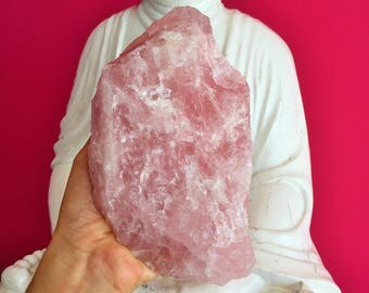 Large Rose Quartz Crystal infused w/ Love and Reiki, Healing Crystals and Stones