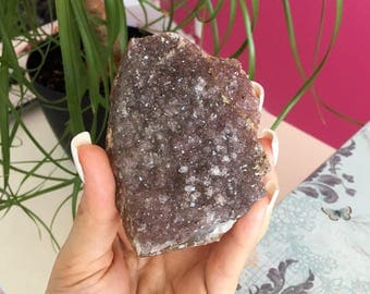 Amethyst Crystal Cluster infused w/ Reiki  Perfect Gift for Mom