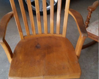 beautiful antique bankers chair rollers