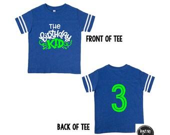 The Birthday Kid Shirt - Birthday Shirts - Unisex Birthday Shirts - Boys Shirts - Number Birthday Shirt - 4th Birthday - 3rd Birthday