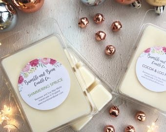 Winter Scented Wax Melts Cubes, Beeswax and Soy Wax Melts Cubes (6 per pack)