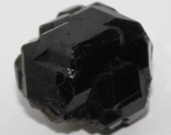 Black garnet crystal, melanite crystals, 21x20x15 mm