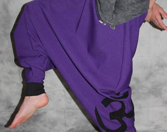 purple Goa pants Om Bloomers  Harem Pants Sarouel pants