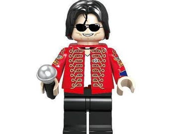 Michael Jackson The King of Pop Custom Minifigure 100% Lego Compatible!