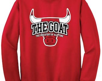 GOAT Michael Jordan Crew Sweatshirt