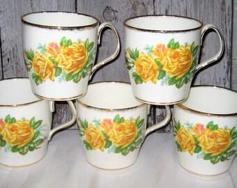 Royal Albert - Tea Rose - Coffee/Tea Mugs (5)