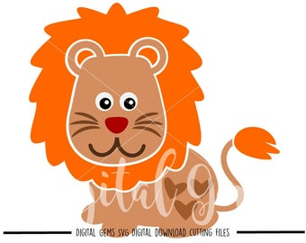Lion svg / dxf / eps / png files. Digital download. Compatible with Cricut and Silhouette machines. Small commercial use ok.