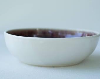 Handmade Ceramic Red Serving Bowl
