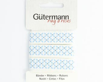 "2 meters ""Gütermann"" with polka dots 15 mm Ribbon"