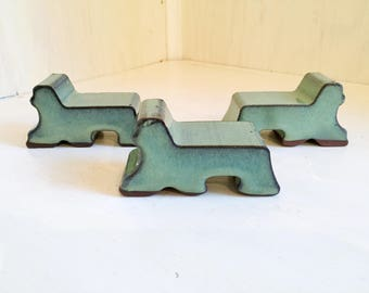 Pot Feet-Weathered Copper (Light Green Color)