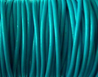 1 m leather cord 2 mm blue PR06