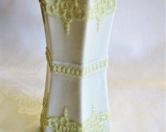 Celtic  Irish Belleek Hexagonal  Vase
