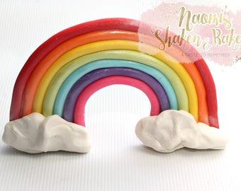Colourful Rainbow Edible cake Topper