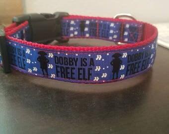 """1"""" Blue Dobby Collar"""