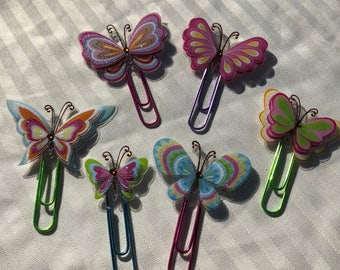 Assorted Butterfly Planner Clips for Planners and Travelers Notebooks TN
