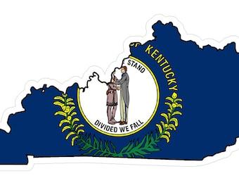Kentucky State (Q18) Shape Flag Vinyl Decal Sticker Car/Truck Laptop/Netbook Window
