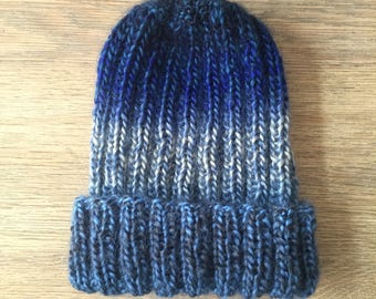 beany, beanie, slouchy hat, handknitted , mens/womens beanie