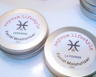 Facial Moisturizer, Dry Skin Care, Skincare, Organic Skincare, Natural Skincare, Unscented and Lavender - seyoum lifestyle