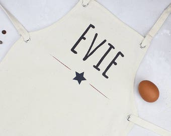 Personalised Kids Star Apron - Personalised Childs Apron - Kids Baking Apron - Baking Gift Idea - Birthday Gift Idea - Bakers Apron