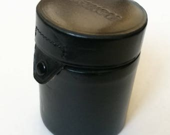 Canon Lens Case for Tele Lens. Vintage Leather Case for SLR Lenses