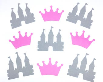 Crown & Castle Die Cut Outs Scrapbook Decoration Birthday Party Handmade Invitations Announcements Confetti
