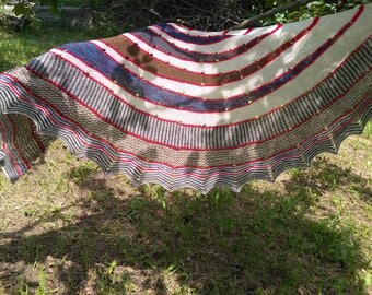 Knitted handmade shawl