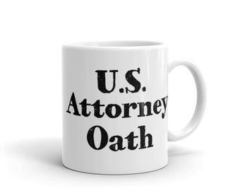 Coffee Mug - Attorney Oath - Law School Graduation Gift - Attorney Gifts - Lawyer Gifts - Law Firm Gifts