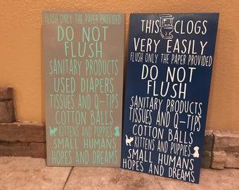 Humorous Septic Tank/Toilet Sign