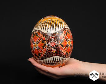 Ostrich painted egg, Easter Eggs, Painted ostrich egg, Hand painted egg, Easter Painted eggs, Pysanka, Ukrainian Easter egg, Easter gift