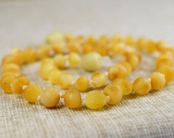 Amber necklace, Baltic Amber Teething Necklace,  Raw Unpolished. Amber teething necklace. Baltic amber. Baltic amber teething necklace.