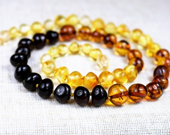 """Amber necklace, genuine Baltic Amber Adult Necklace. 17.3"""" & Bracelet. Jewelry for Women, Baltic amber. Baltic amber necklace"""