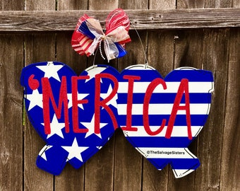 Independence Day Door Hanger, Fourth of July Door Hanger, Merica, freedom, 4th of July Decor