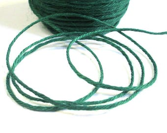 5 m Green 2mm hemp cord