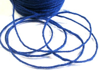 5 m blue 2mm hemp cord