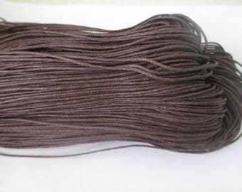 5 meters of thread waxed cotton Brown 0.7 mm