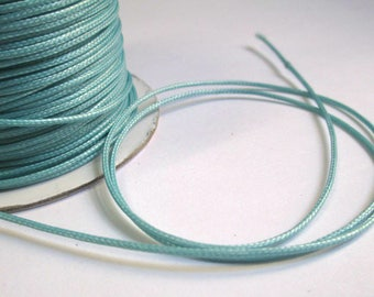 10 meters wire icy blue polyester waxed 1 mm
