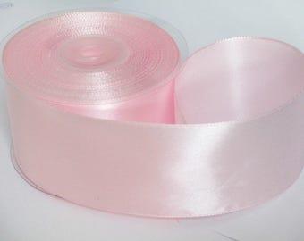 1 m 50mm pink satin ribbon