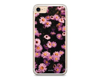DAISIES Floral Pink iPhone Case iPhone 8 case 8 plus iPhone 7 case 7 plus 6 6s 6s plus SE 5 5s 4 4s Samsung S7 S7 Edge Samsung S8 S8 Plus