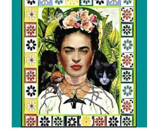 "Frida Kahlo Magnet - Original Frida Artist Parody ""Self-Portrait""  - Refrigerator Magnet -Teacher - Art Teachers - Crafts"