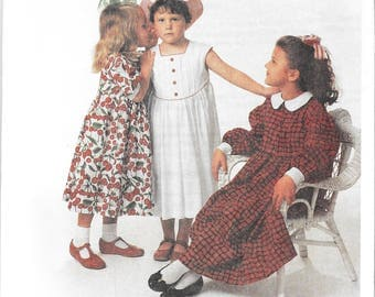 Children's Corner Pattern 211 -  Vintage - Michelle Dress and Hat - sizes 7 - 8 - NIP/Uncut