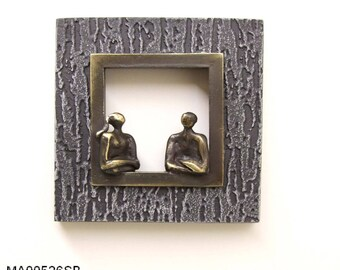 Wall frame with 2 characters 14 X 14 cm