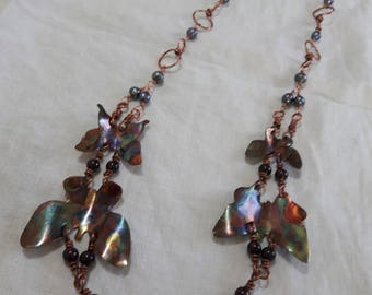 Flame-painted Butterfly Necklace.