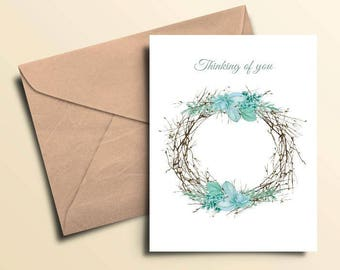Wreath Thinking of You Card