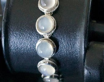 ON SALE Stylish Moonstone Silver Bracelet