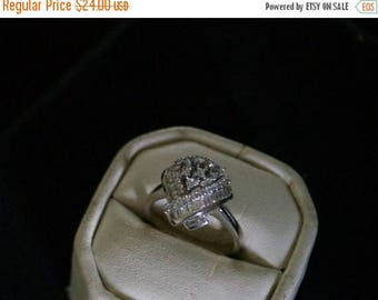 ON SALE Fine CZ Silver Ring