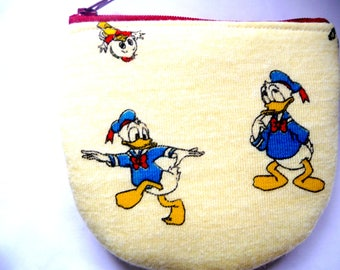 New! pouch with duck made from vintage fabric